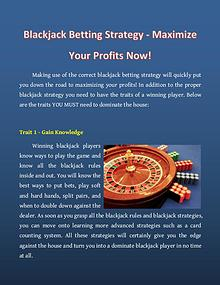 Blackjack Betting Strategy - Maximize Your Profits Now!