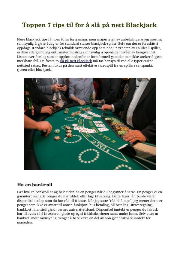 Toppen 7 tips til for å slå på nett Blackjack Toppen 7 tips til for å slå på nett Blackjack