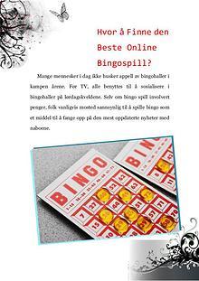 Hvor å Finne den Beste Online Bingospill?