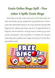 Gratis Online Bingo Spill - Finn måter å Spille Gratis Bingo
