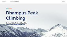 Dhampus Peak Climbing Nepal