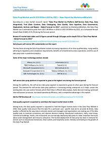 Data Prep Market - Global Forecast to 2021