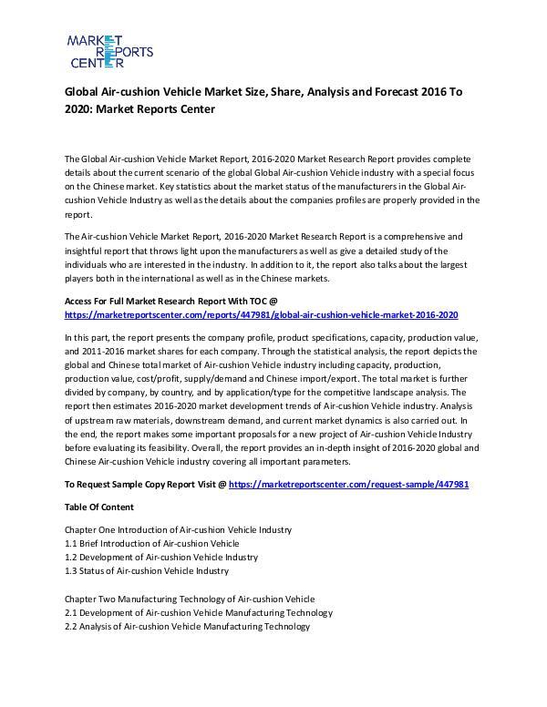 Global Air-cushion Vehicle Market