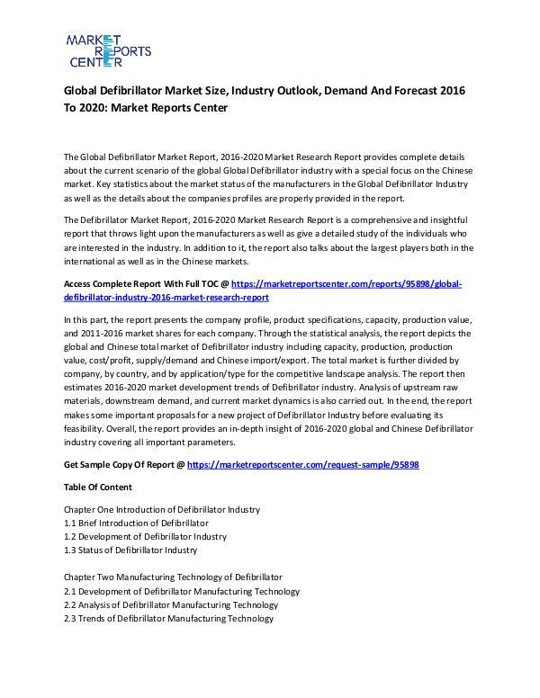 Emerging Research Reports Global Defibrillator Market