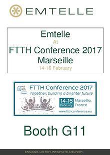 Emtelle presents -FTTH Exhibition 2017