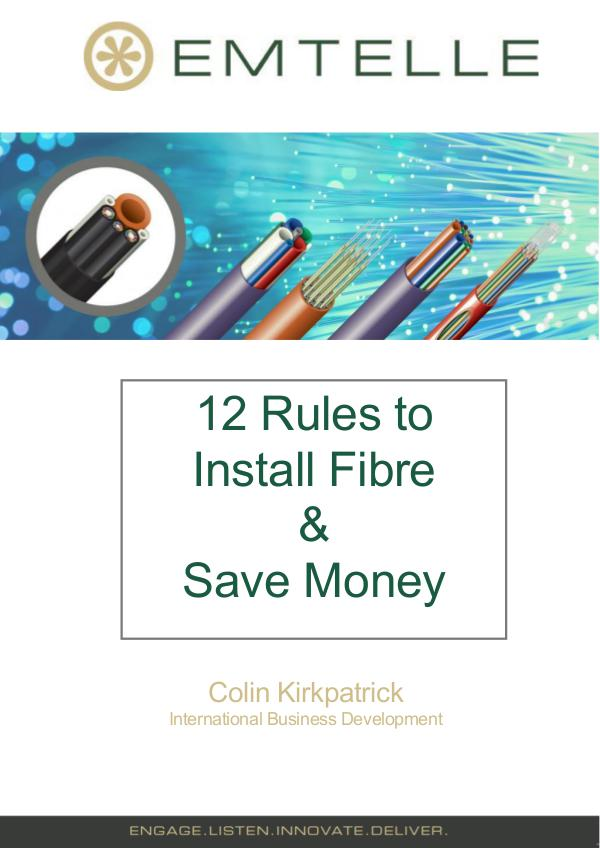 12 ways to install fibre and save money