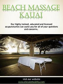 Beach Massage Kauai