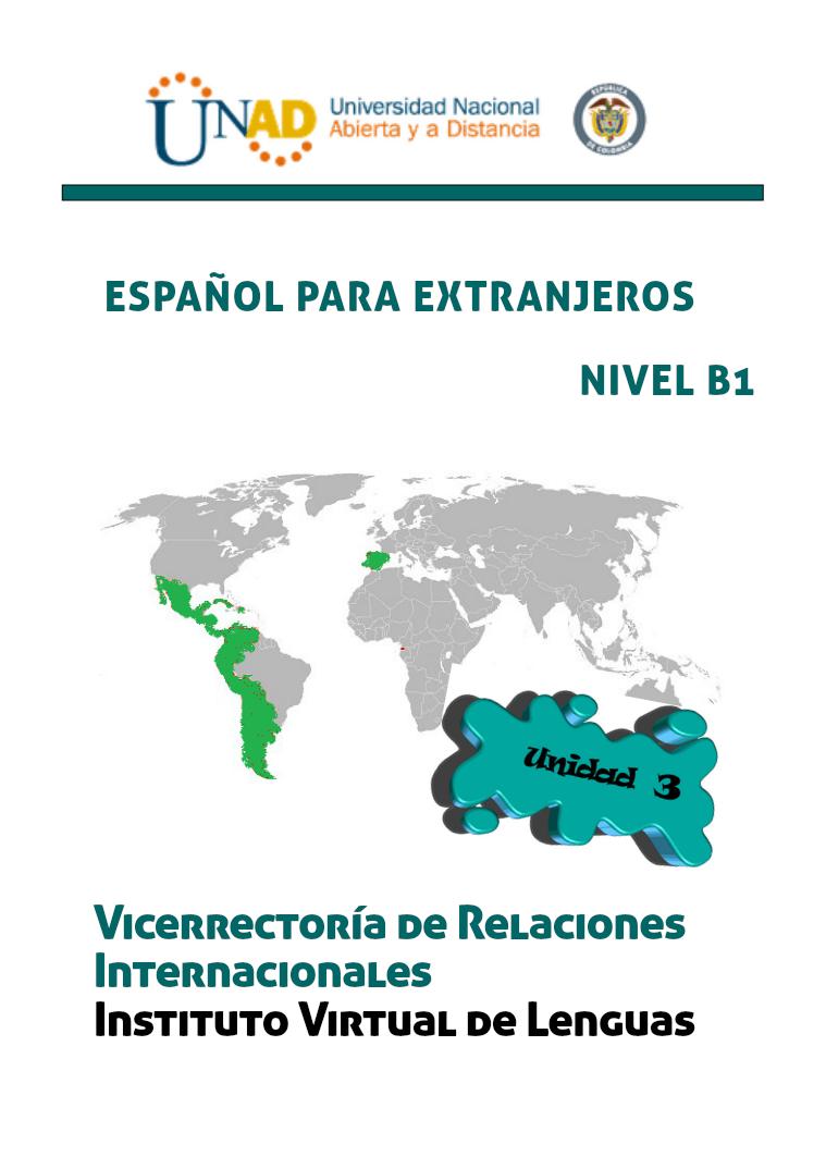 Español B1 Unidad 3