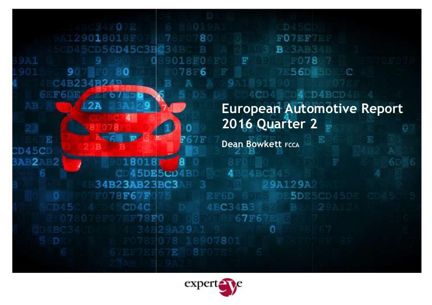 ExpertEye European Automotive Report Q2 2016