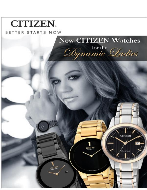 New Citizen Watches for the Dynamic Ladies New Citizen Watches for the Dynamic Ladies
