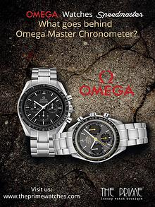 What goes behind Omega Master Chronometer?