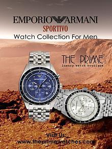 Emporio Armani Sportivo Watch Collection For Men