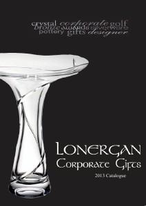 Lonergan Corporate Gifts Brochure June 2013