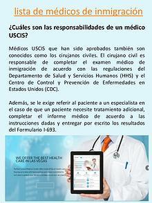 localizados de médicos autorizados de USCIS