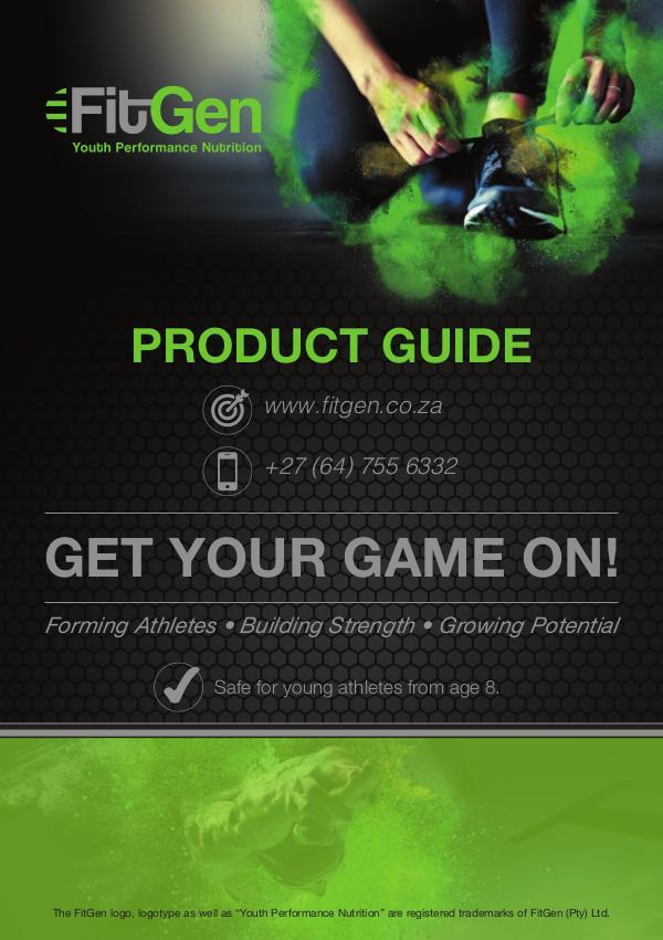 FitGen Product Guide November