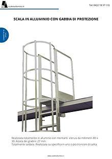 scale con gabbia di protezione
