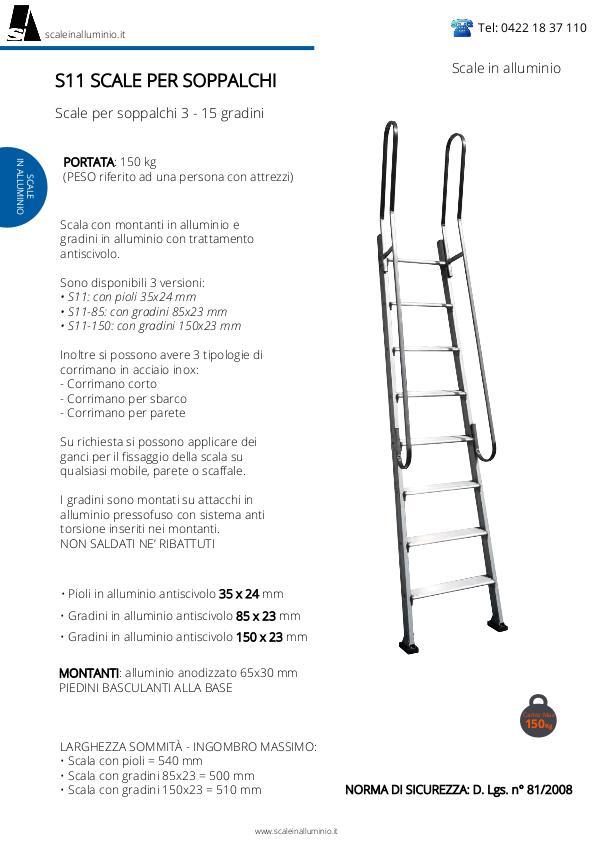 Scale in alluminio Scale per soppalchi in alluminio