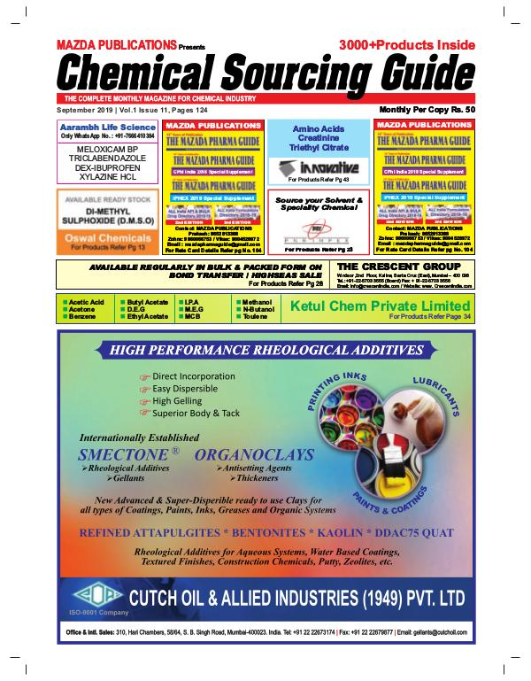 Chemicals Sourcing Guide Chemical  Sourcing Guide - September 2019