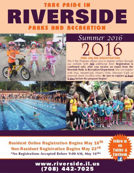 Riverside Parks and Recreation Summer Brochure 1