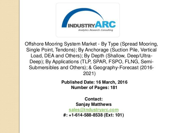 Offshore Mooring System Market: rise in sale of turret system by oil Offshore Mooring System Market: huge scope for FPS