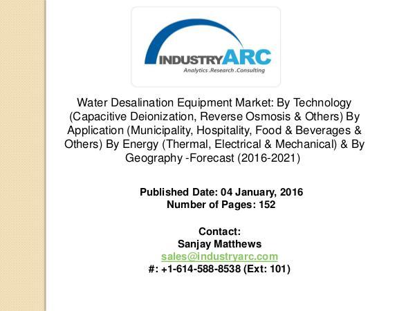 Water Desalination Equipment Market: growth in water desalination com Water Desalination Equipment Market: growth in wat