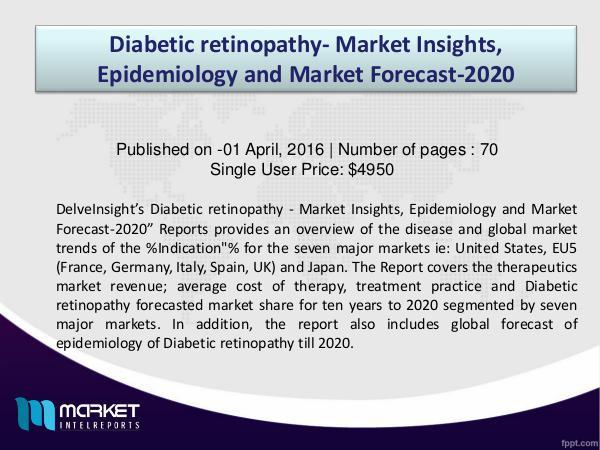 Strategic Analysis on Diabetic retinopathy - Market Insights & Drugs Diabetic retinopathy - Market Insights