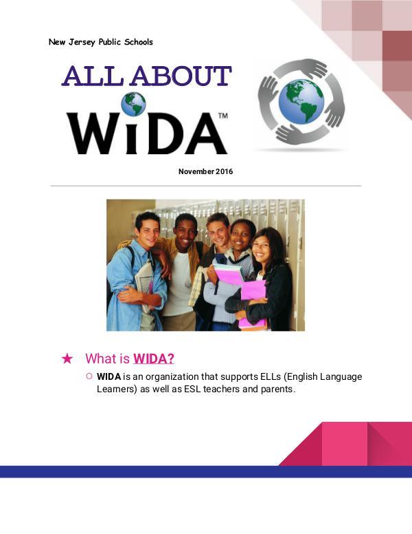 WIDA What is WIDA?