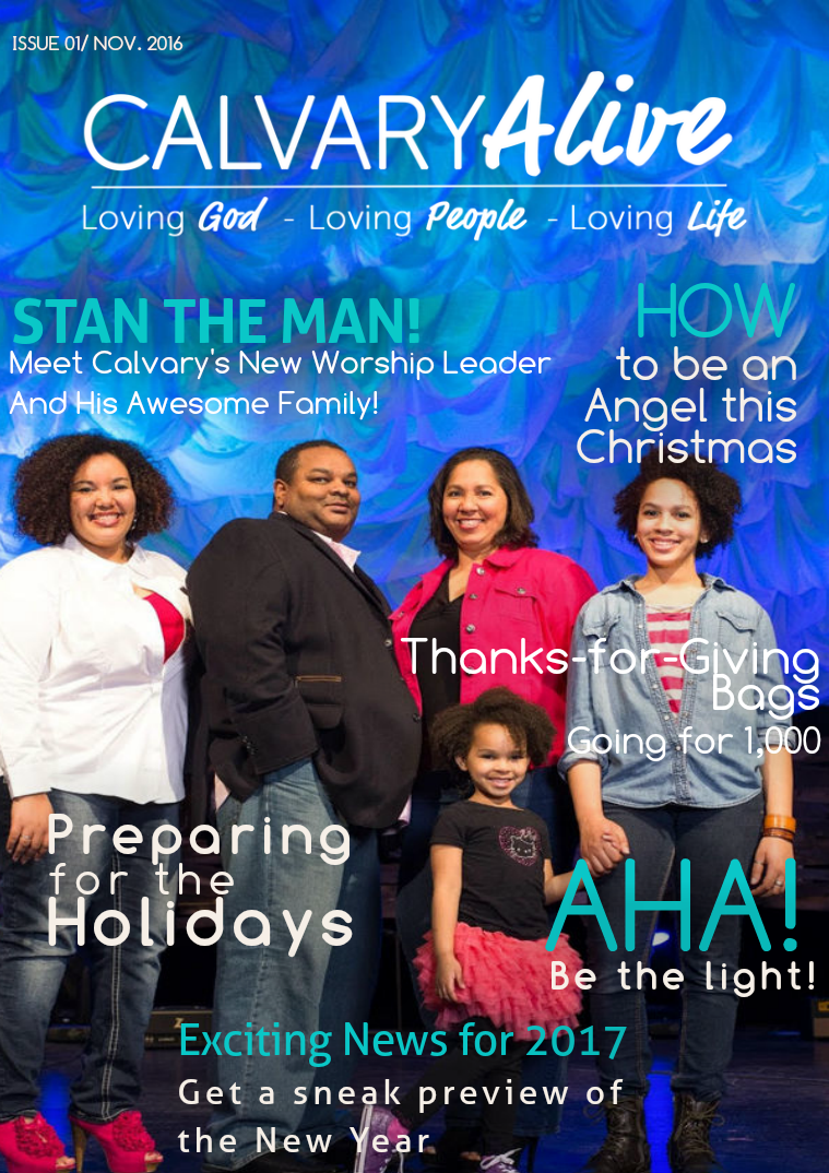 Calvary Alive Newsletter Nov 2016 Issue