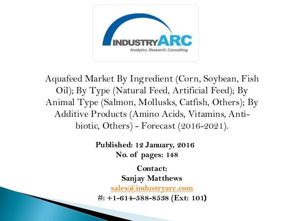 A global research study on Aquafeed Market A Global research on Aquafeed Market