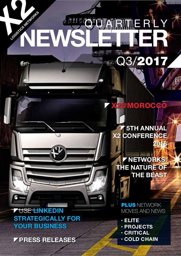 X2 Newsletter Corner 2017 ➨ Q3 X2 Newsletter
