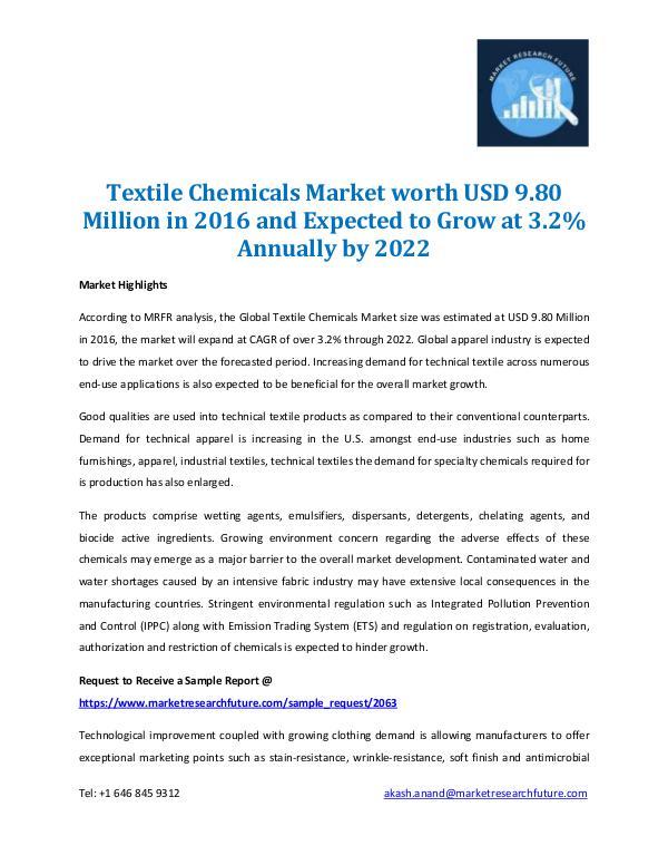 Textile Chemical Market 2022