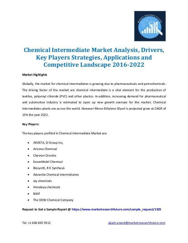 Chemical Intermidiate Market 2016-2022