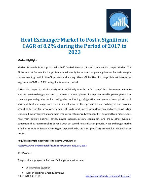 Heat Exchanger Market Research Report 2017-2023