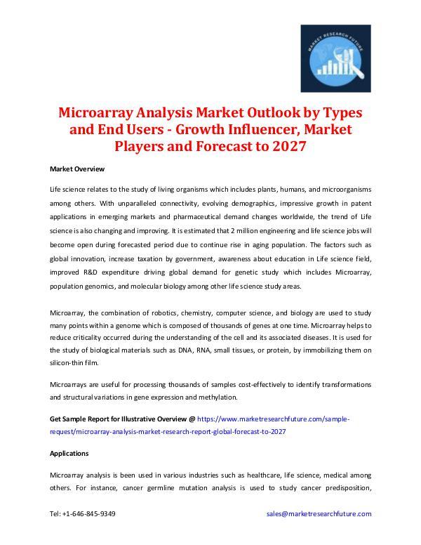 Microarray Analysis Market - Forecast to 2027