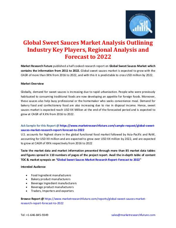 Global Sweet Sauces Market - Forecast to 2022