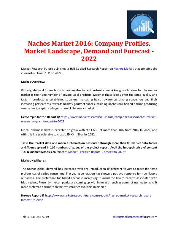 Nachos Market 2016: Forecast to 2022