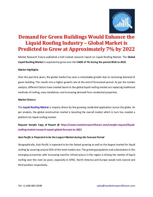 Liquid Roofing Market Research Report 2022
