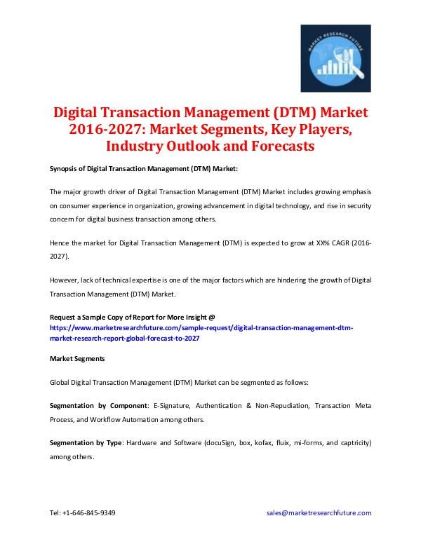 Digital Transaction Management (DTM) Market 2027