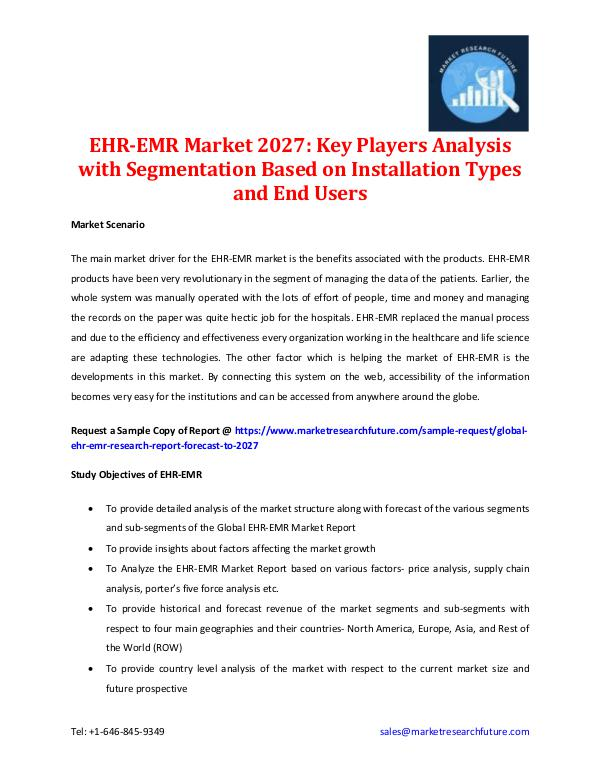 EHR-EMR Market Analysis - 2027