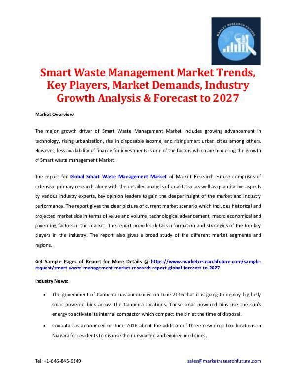 Smart Waste Management Market 2027