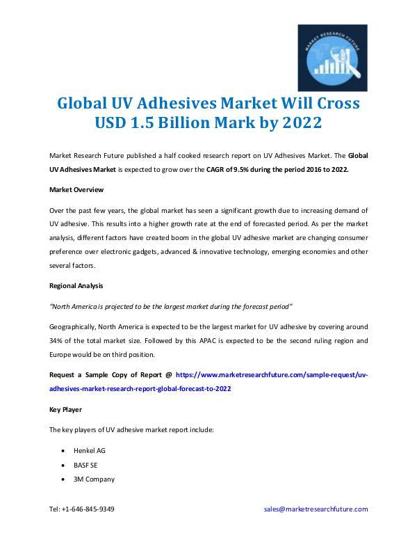 UV Adhesives Market Worth $1.5 Billion by 2022