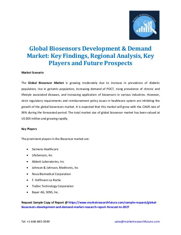 Global Biosensors Development & Demand Market-2027