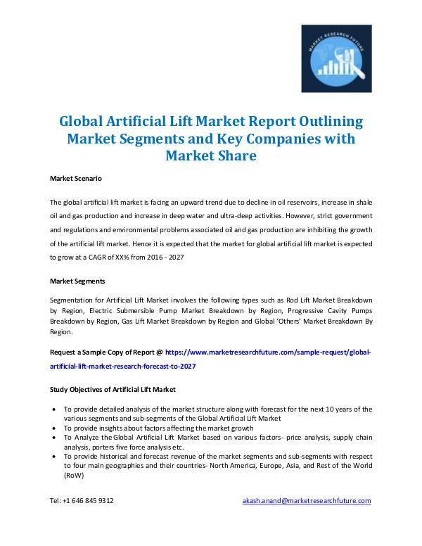 Artificial Lift Market Report 2027