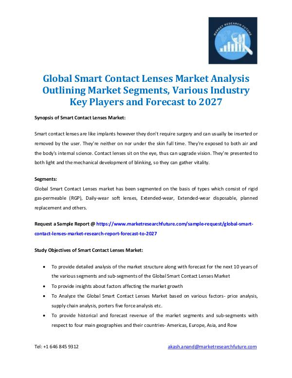 Global Smart Contact Lenses Market Analysis 2027