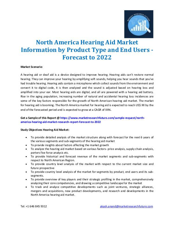 North America Hearing Aid Market 2016-2022
