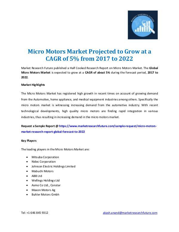 Micro Motors Market Report 2022