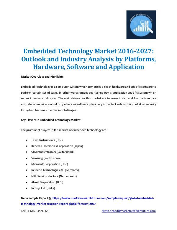 Embedded Technology Market Report 2027