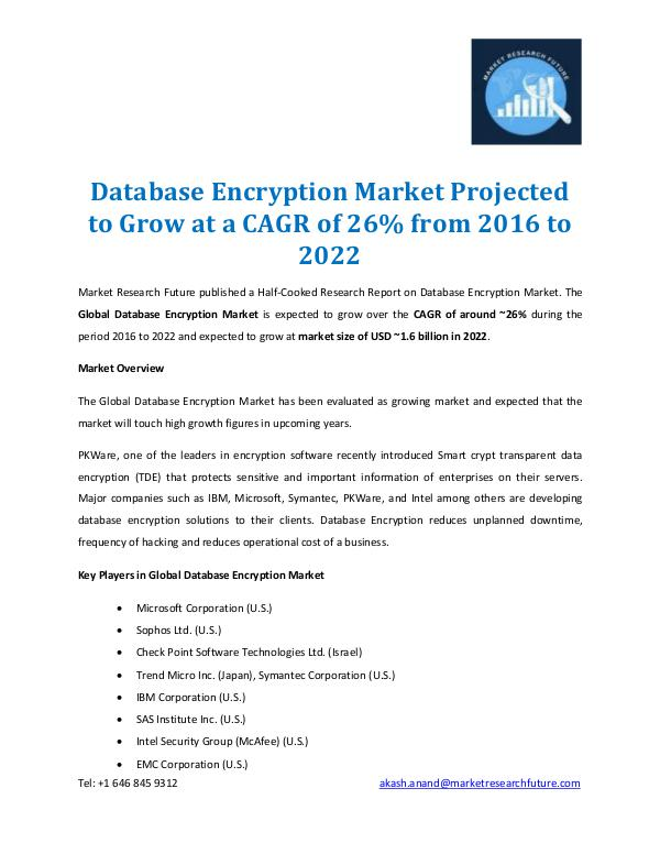 Database Encryption Market Report 2022