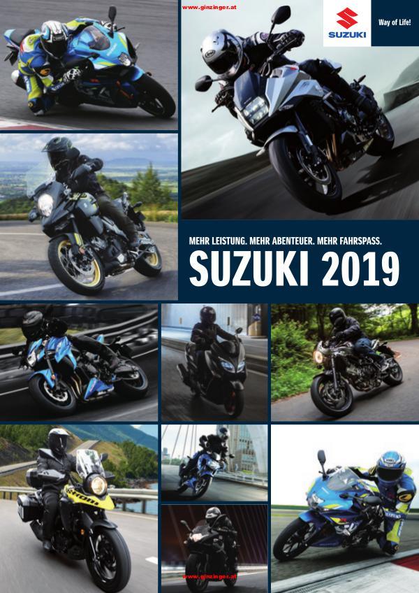Ginzinger Aktionen 2018 Motorrad & Scooter & Moped Suzuki Katalog 2019 / Aktionen