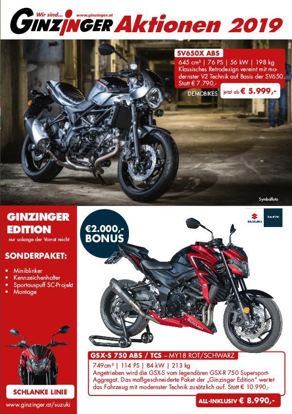 Motorrad Aktionen 2019
